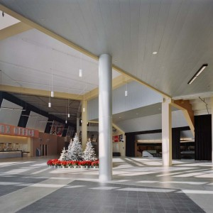 300 C Linear Plank Metal Ceiling by Hunter Douglas.  Used by arrangement with Hunter Douglas. All rights reserved.  - MC3