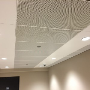 Torsion Spring Perforated Ceiling by Hunter Douglas.  Used by arrangement with Hunter Douglas. All rights reserved.   - MC7