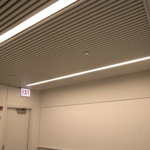 Deep Box 2 Linear Metal Ceiling by Hunter Douglas.  Used by arrangement with Hunter Douglas. All rights reserved. - MC8