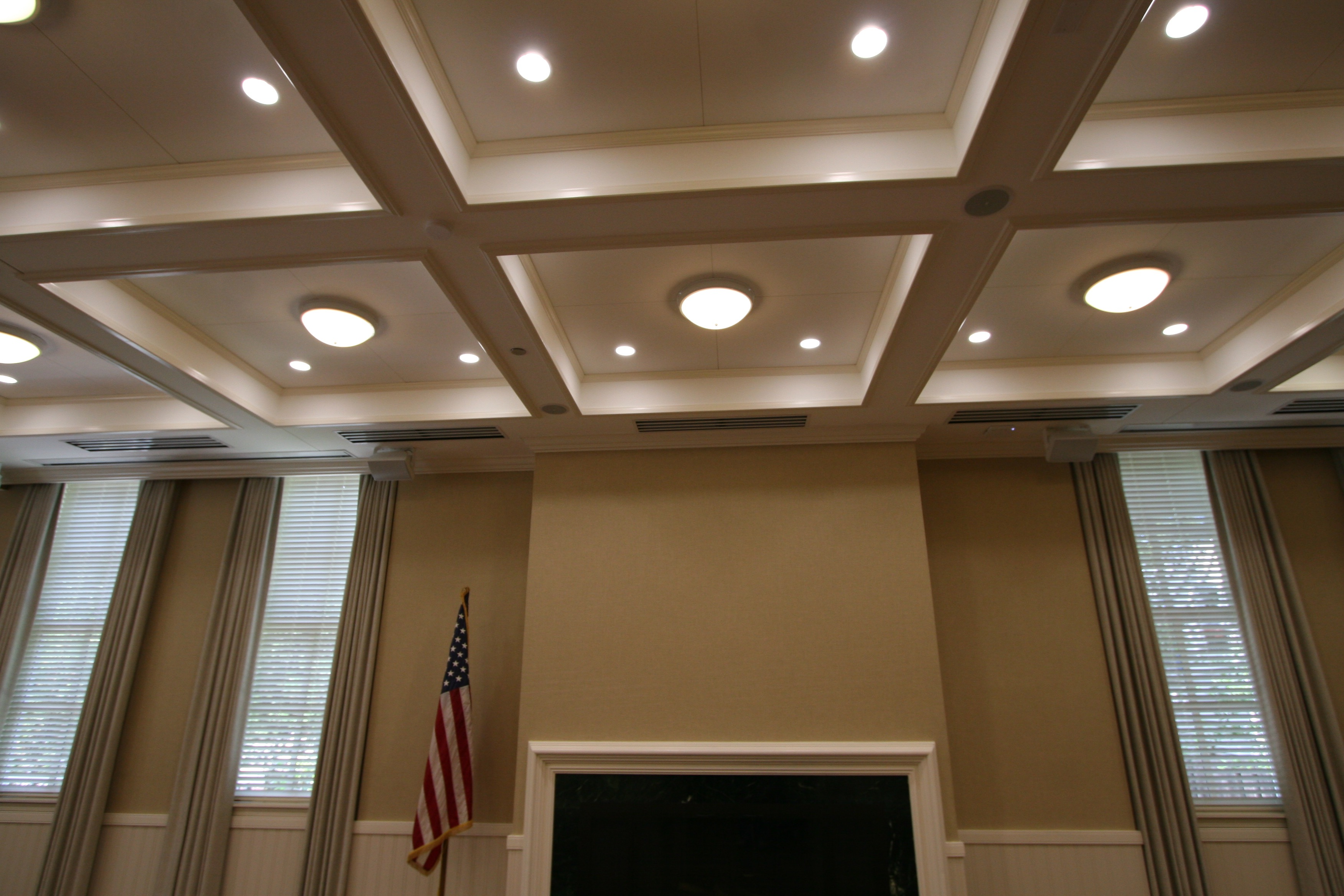 Fabric Wall Ceiling : Fabric wrapped acoustical panels mauinc