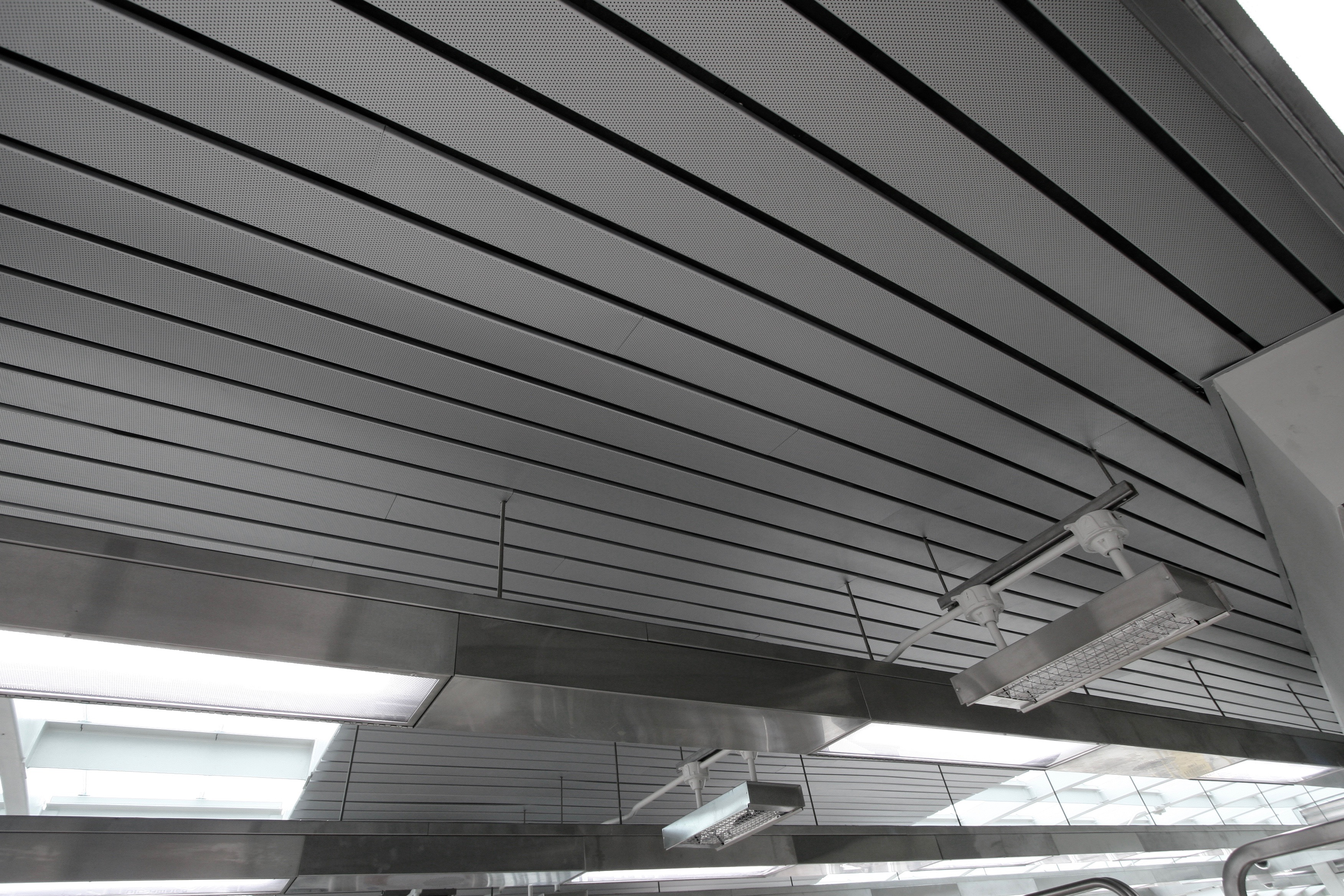 Perforated Box 6 Lital Ceiling By Hunter Douglas Used Arrangement With